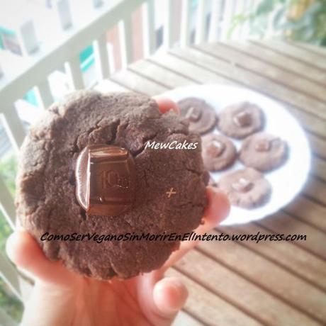 Galletas de mantequilla de cacahuete y cacao (Versionando a Mewcakes)